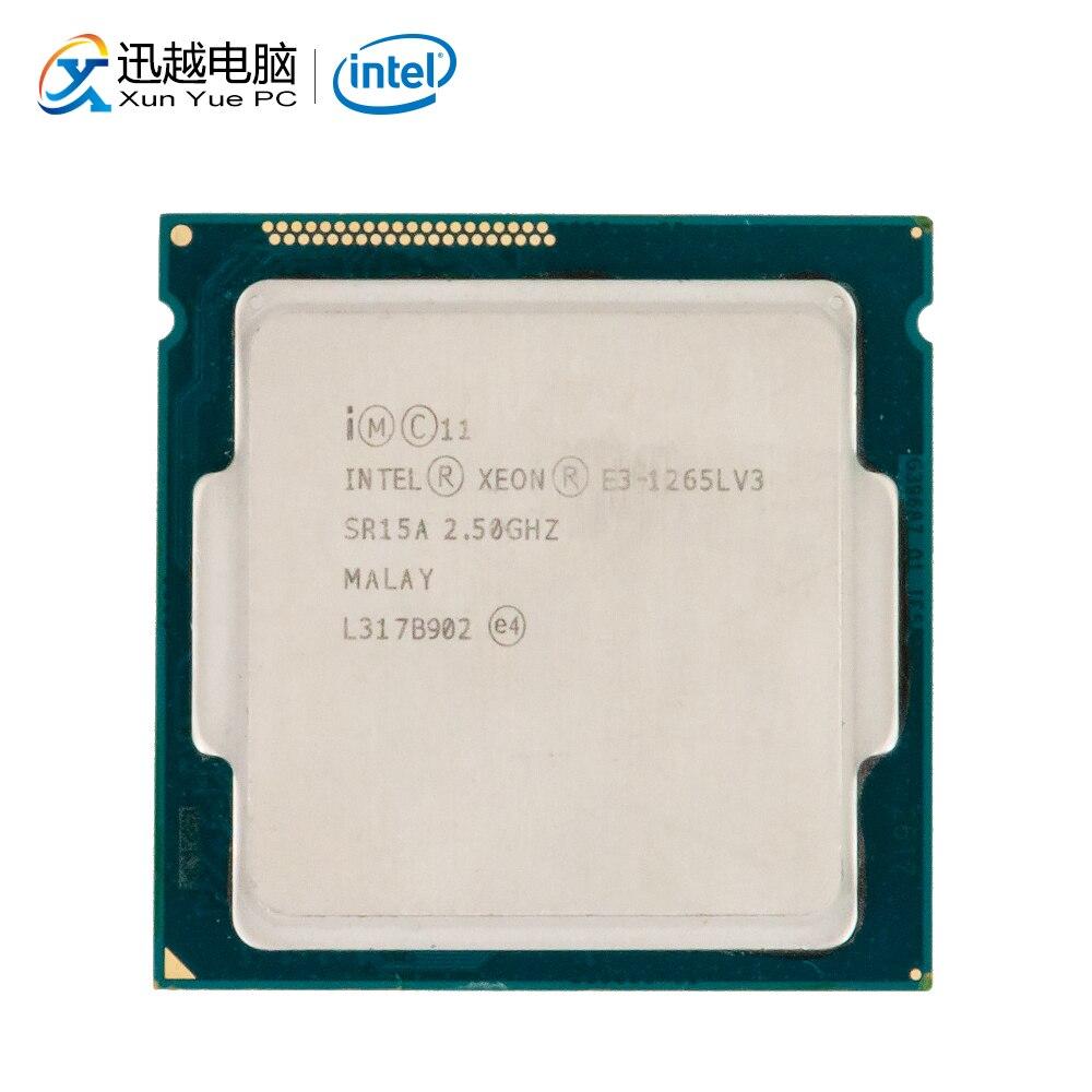 Processador para Desktop Intel Xeon E3-1265L V3 E3 1265L V3 Quad-Core 2.5 GHz L3 8 MB Cache LGA 1150 servidor CPU Usado