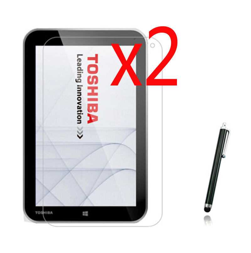 2x films + 2x cloth +1x Stylus, LCD Clear Screen Protector Transparent Film Guards For Toshiba Encore WT8 WT8-AT01G WT8-AT02G 8