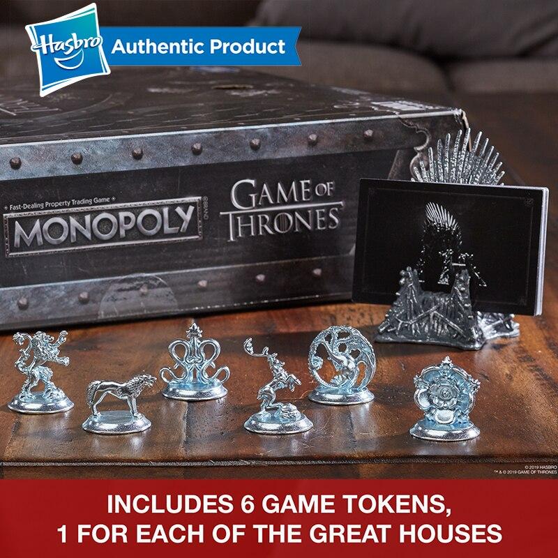 Hasbro Monopoly jeu de trônes jeu de société pour 18 ans et plus pour jouer pour adulte famille jeu ensemble Fans populaires marchandise - 4