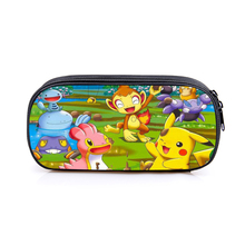 Pikachu Dinosaur Pencil Case Bag School Pouches Student Pen Purse Wallet