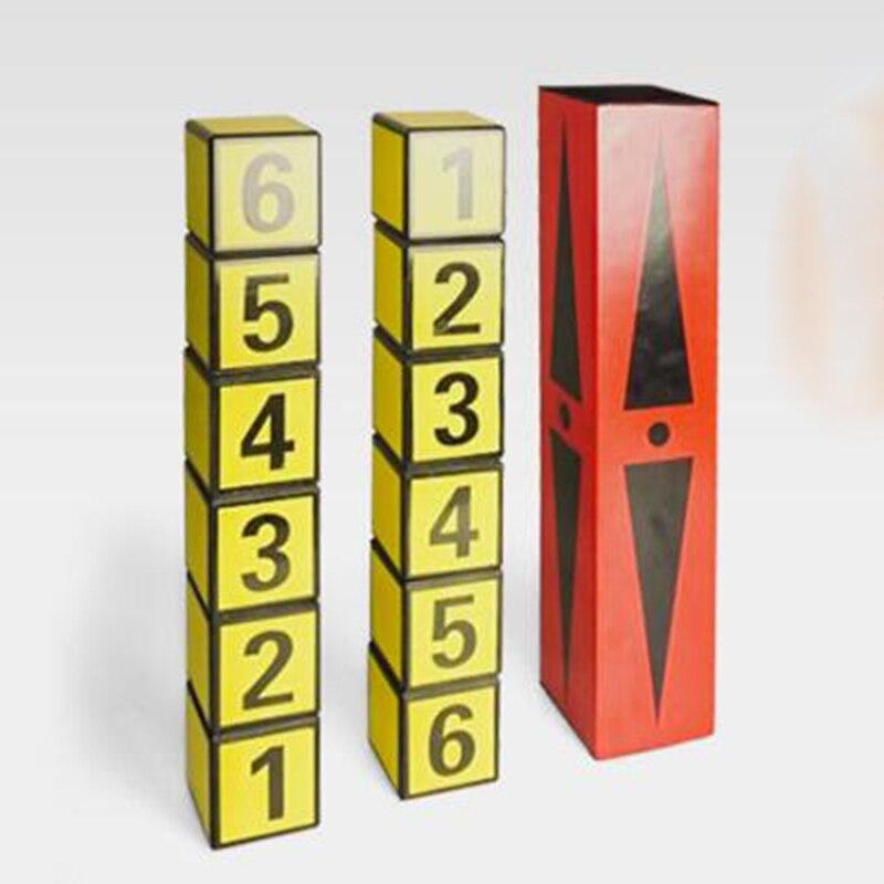 1 Set Cuba un dés Libre échanger des tours de Magie pour le magicien professionnel Tube Magie scène Illusion Gimmick accessoires comédie mentalisme