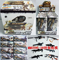 4D Gun modelo 1:6 montagem brinquedos de armas Ak47 m82 Machine Gun Mg42 m16 Rifle Submachine 8 pçs/set montagem Classic Toys