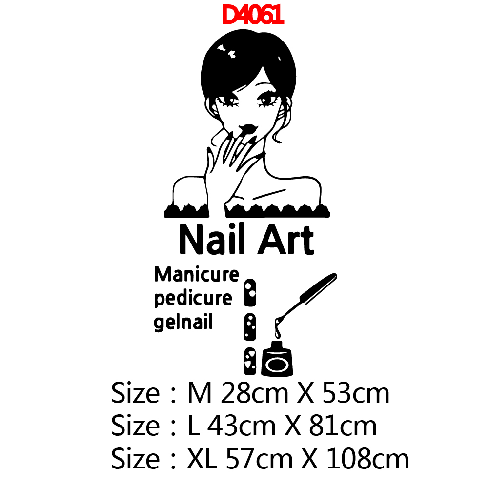 Creative nail art Wall Sticker Pvc Wall Art Stickers Modern Fashion Wallsticker For Kids Room Living Room Nordic Style in Wall Stickers from Home Garden