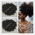 160 г афро хвост выдвижение человеческих волос хвостики афро кудрявый клип в реми волос drawtring хвост бесплатная доставка