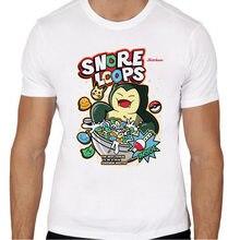 Snorlax T Shirt men Summer fashion High Quality t-shirt casual white print  O-Neck print male men top tees TMM3519 be350ae59
