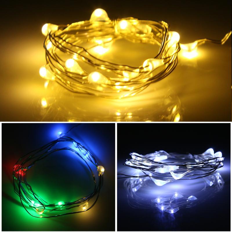 1M 10 LED Lamp Bottle Stopper Glass Wine Waterproof Solar Energy Wire String Light Christmas Lighting Light Holiday Decor Lamps
