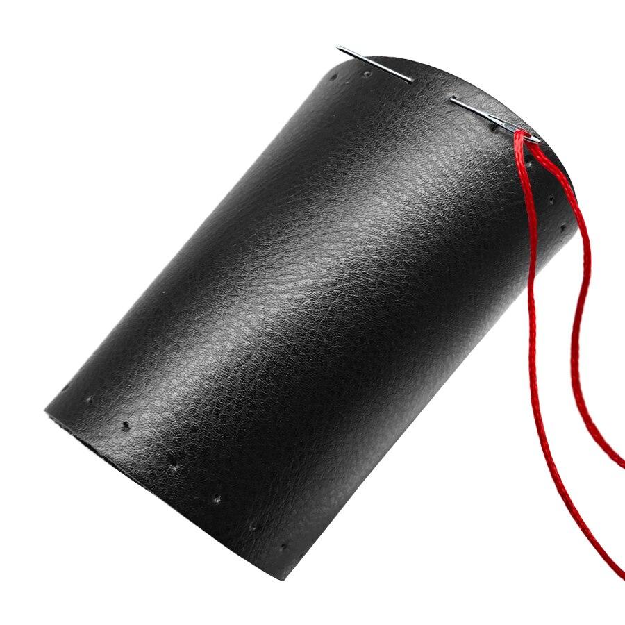 Echtes Leder Braid Lenkrad Abdeckung Automobil Flechten Abdeckungen Auf Die Lenkrad für Auto Innen Zubehör 15 zoll