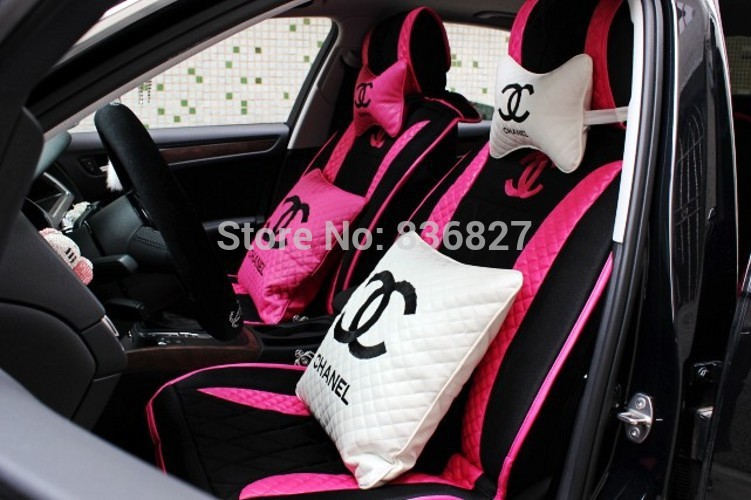 Girls Women S Fashion Cute Cartoon Korean Pink Rose Color Universal Car Seat Cover Set Covered Moped Rose Ground Coverrose Odor Aliexpress