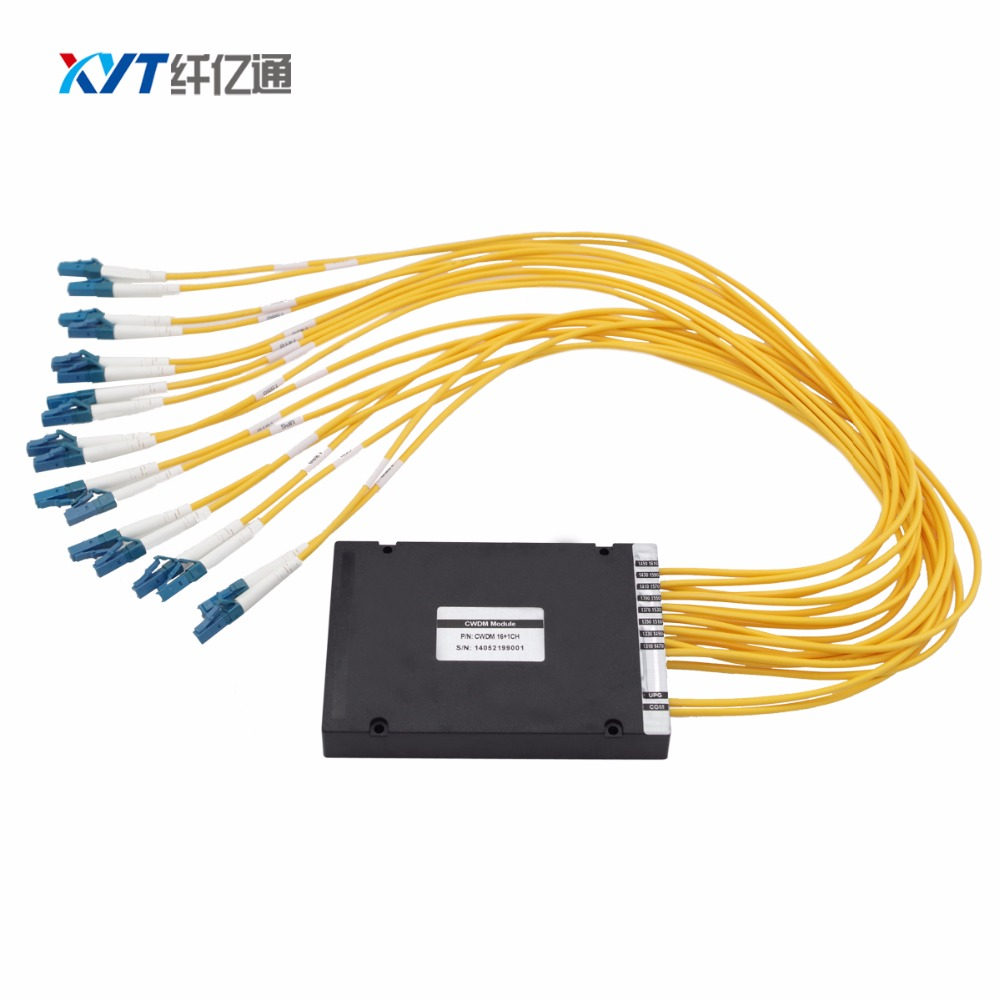 High quality 8 channel dual fiber 2 input 16 output Dense Wavelength Division Multiplexing MUX/DEMUXHigh quality 8 channel dual fiber 2 input 16 output Dense Wavelength Division Multiplexing MUX/DEMUX