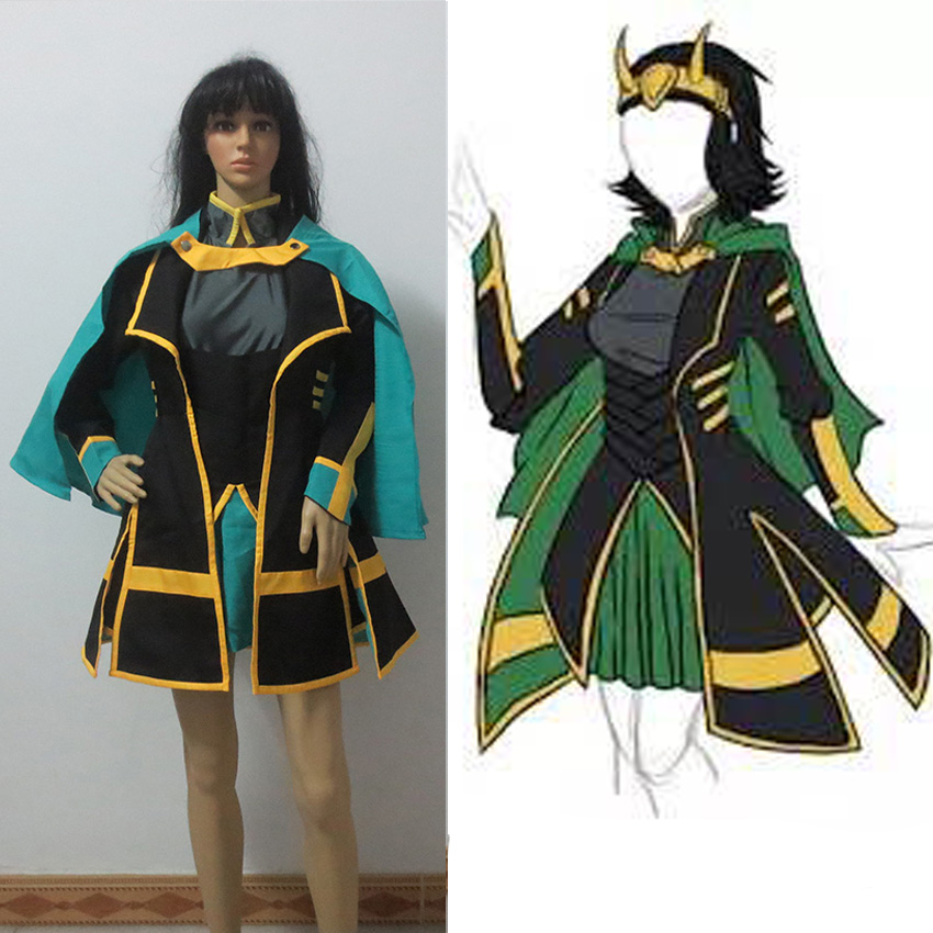 Customized The Avengers Loki Cosplay Costume Women s Dress Full Suit
