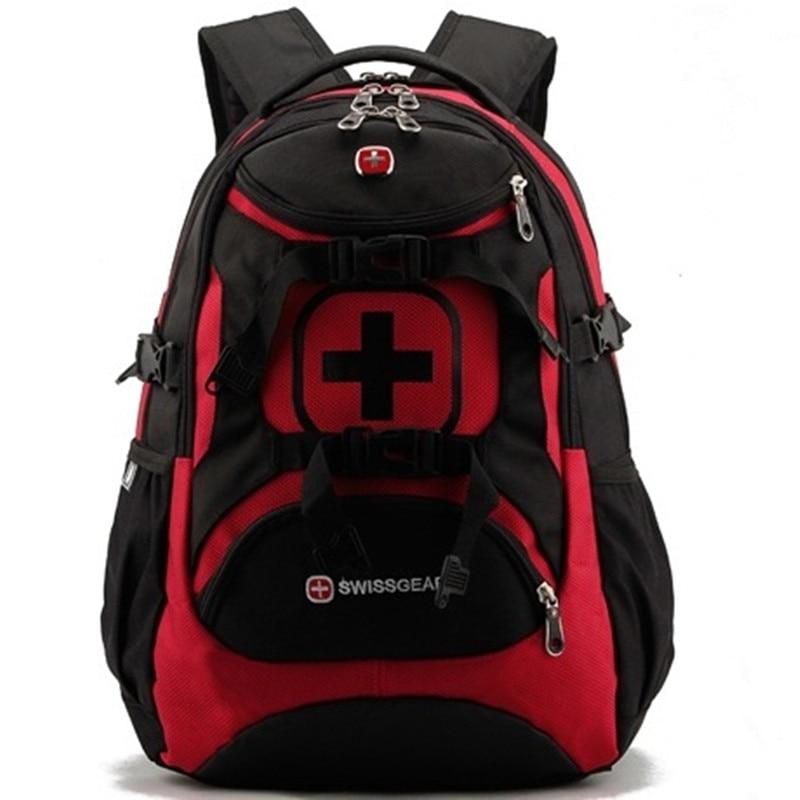 Swiss Laptop backpack Male boy Schoolbag Multifunctional 15.6 inch Waterproof Men Travel Bag Rucksack Notebook Boy Computer Bag