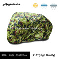 210T Motorcycle Covers XXL Dustproof Waterproof Camouflage Street Bikes Scooter Covering  Hood Tent Outdoor UV Protection