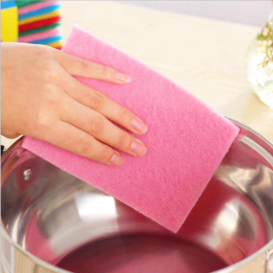 10PC Cleaning Pads Microfiber Anti Grease Dish Cloth Bamboo Fiber Washing Towel Magic Kitchen Cleaning Wiping Rag D35A25