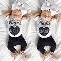 Новый Забавный Дизайн Младенческой Младенцев Мальчиков Осень Одежда Модная Повседневная Дети Дети С Коротким Рукавом Shirtss + Длинные Брюки