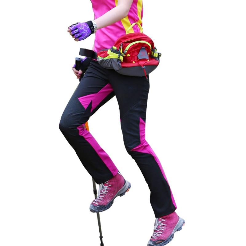 NUONEKO Women's Quick Dry Outdoor Hiking Pants Summer Sports Elastic Waterproof Pants Camping Trekking Climbing Trousers PN32