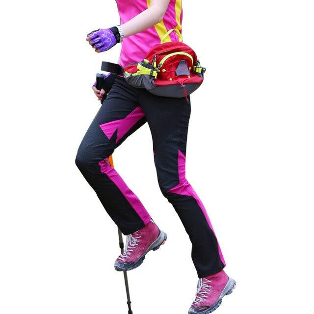 NUONEKO Womens Quick Dry Outdoor Hiking Pants Summer Sports Elastic Waterproof Pants Camping Trekking Climbing Trousers PN32