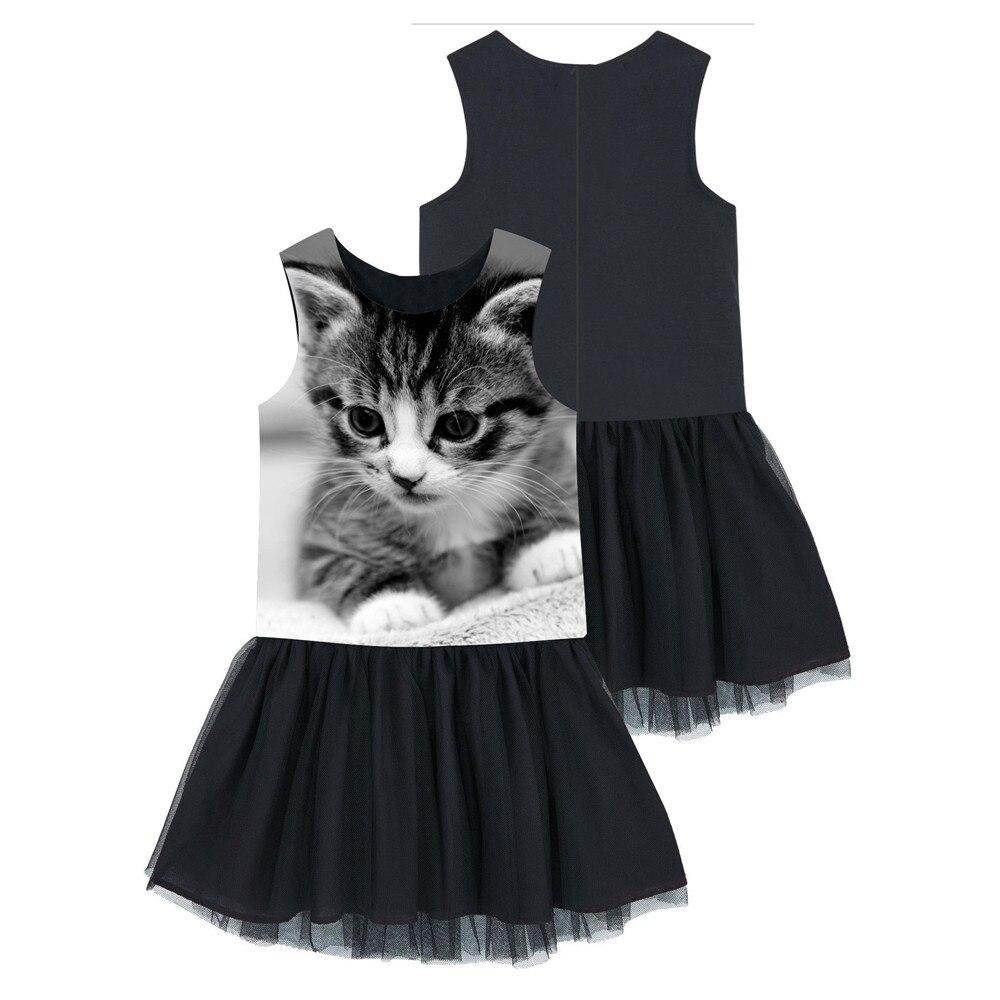 Zaktualizowano Czarny sukienka śliczna kot dziewczyny maluch kostium Halloween KY49