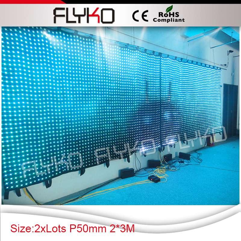 Livraison gratuite écran vidéo LED en tissu imperméable