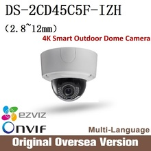 Hikvision DS-2CD45C5F-IZH 2.8-12mm Ip 12MP dome Camera Onvif RJ45 upgrade support English Version 4K Smart Outdoor Dome Camera