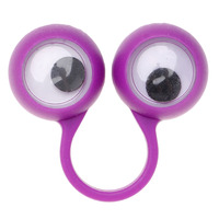 1 Pack Multi Colors Plastic Monster Eye Finger Puppets Wiggle Eyes Kids Gift Fun For Children