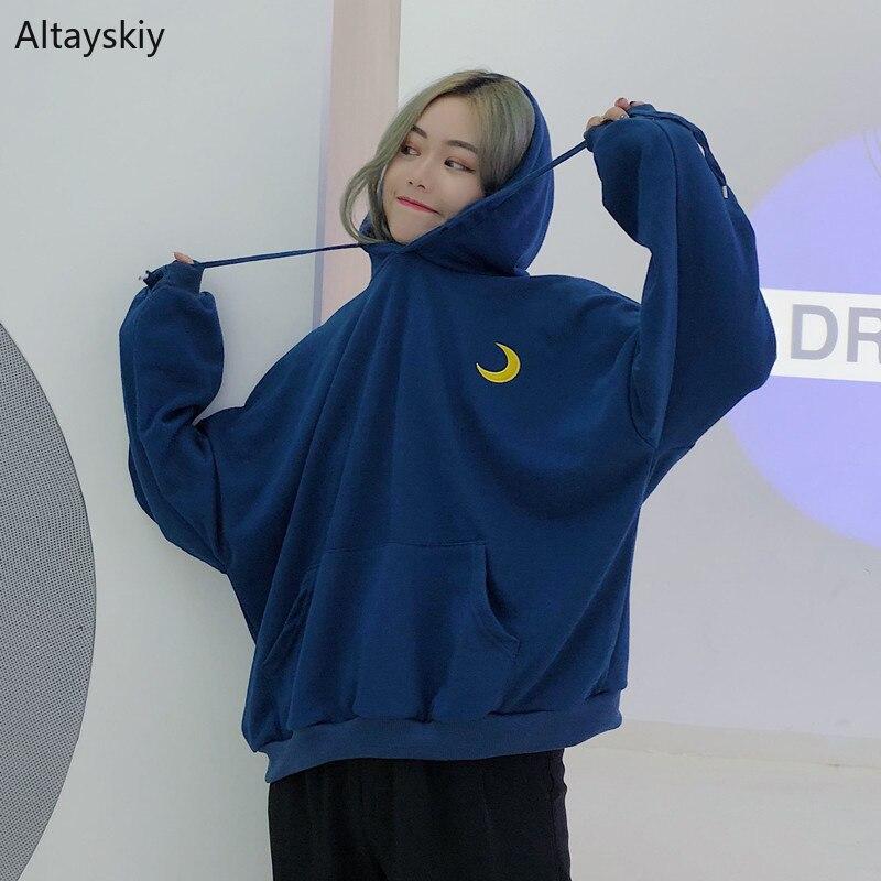 Hoodies Mulheres Com Capuz Impresso Simples de Todos Os Jogo Estilo Coreano Lazer Macios Pulôveres Das Mulheres De Alta Qualidade Moletons BF Diária Chique