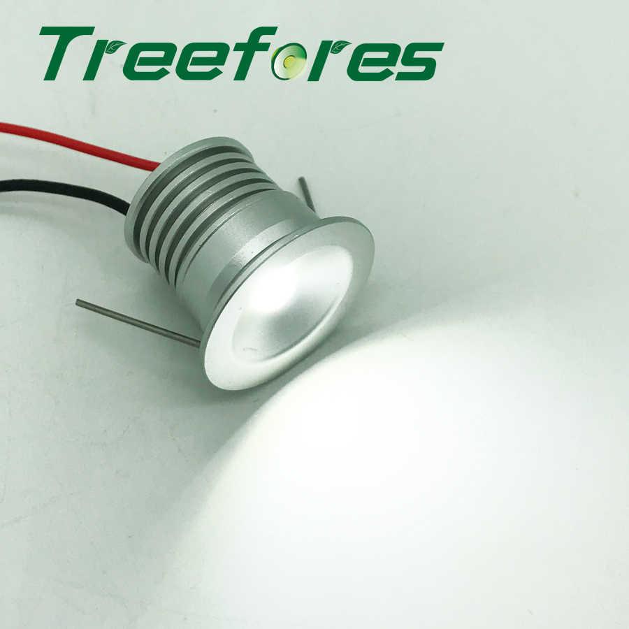 С регулируемой яркостью 1 W 25mm DC 12 V IP65 светодиодный потолочный светильник 80Ra CE лампа с ограничением содержания вредных веществ пятно домашние отель шкаф светильники для ювелирных витрин