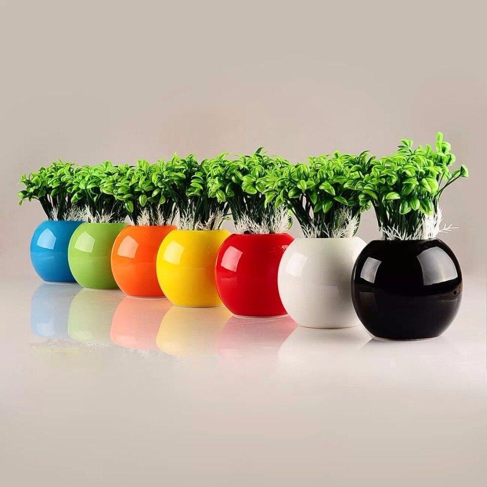 9 Цвет съемный Цвет ful Керамика ваза для цветов расположение дома стол офисный Керамика Craft Орнамент сферические ваза для цветов