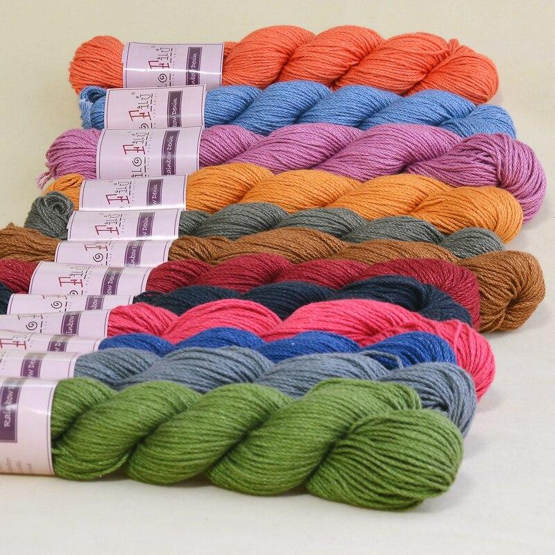 Filo Filu Brand Colored Cotton Hank Yarn Natural Milk