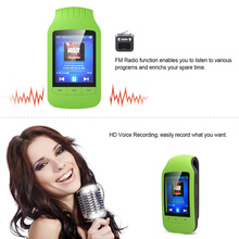 Mini lecteur MP3 Bluetooth sport podomètre Radio FM Micro SD