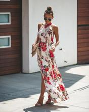 2019 Summer Beach Style Women Sexy Ladies Dress Charming Floral Print Lace Patchwork Large Swing Party