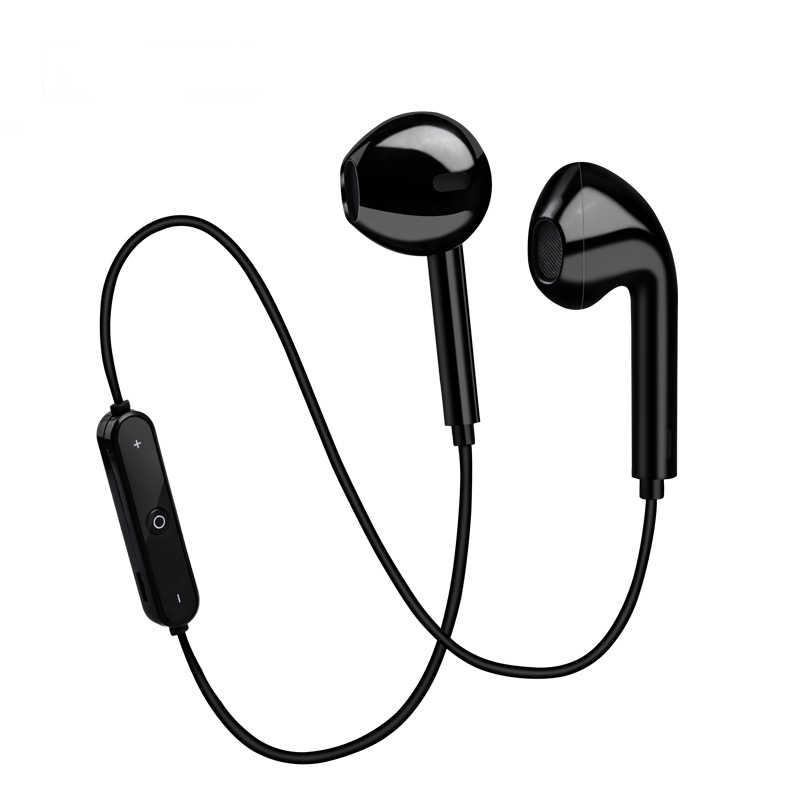 S6 bezprzewodowe słuchawki sportowe słuchawki bluetooth z pałąkiem na kark sterowane liniowo słuchawki nauszne do telefonu z mikrofonem słuchawki do xiaomi huawei