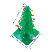 Three-dimensional Color Christmas Tree LED Water Lamp Flash Tree Electronic DIY