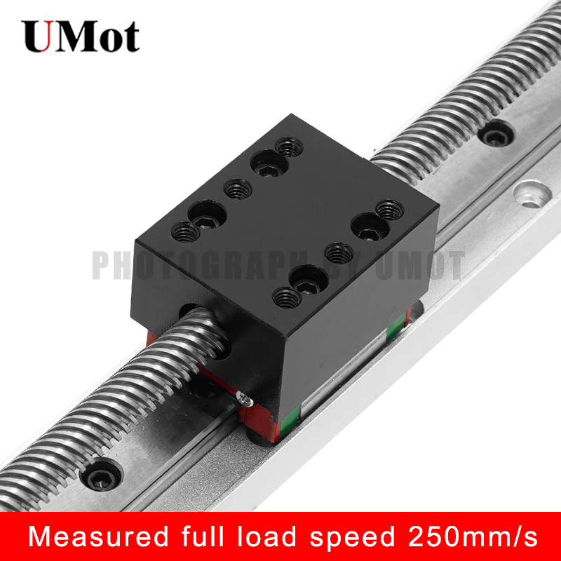50mm 300mm CNC Mini Linear Rail Set Guide Small Linear Stage Actuator Screw Lead Linear Motion Slide Table in Linear Guides from Home Improvement