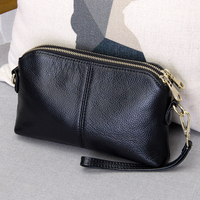Genuine Leather High Quality Clutch Bag Style Fashion Trend Women Handbag Messenger Bag Dual Purpose Leisure