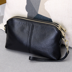 100% couro genuíno de alta qualidade saco embreagem estilo moda tendência feminina bolsa mensageiro bolsa dupla finalidade lazer saco #38177