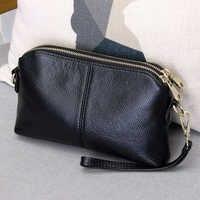 100% prawdziwej skóry wysokiej jakości kopertówka styl trend w modzie kobiet torebka torba 2-w-1 torba rekreacyjna #38177
