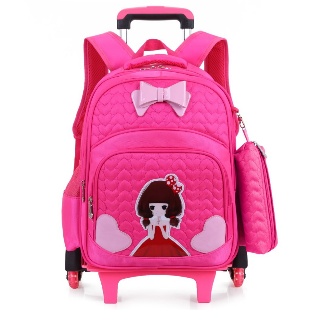 high quality Climb the stairs luggage 3D child cartoon school bag students rolling suitcase Children travel backpack Pencil case ...