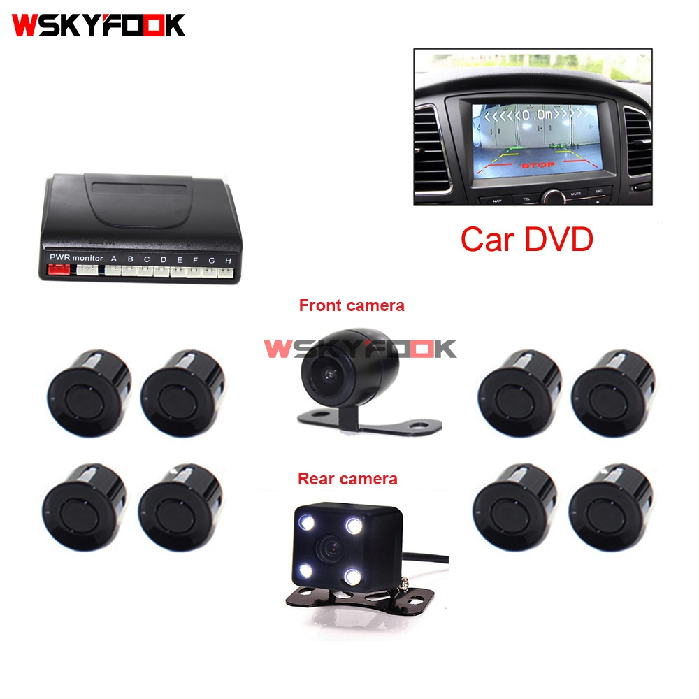 Vehicle Car Video DVD Parking Kit 8 Parking Sensor Car