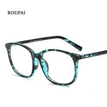 купить ROUPAI Eyewear Frames Vintage Unisex Round Frames Eyeglasses For Man Clear Fashion Glasses For Ladies Retro Fake Glasses 8121 по цене 541.65 рублей