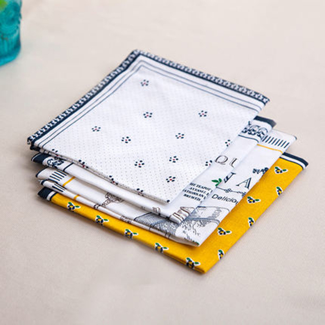 Bàn ăn Vải Vải Placemat Pad Cách Nhiệt Silicone Doilies Cotton Uống Đế Lót Ly Napperon Phụ Kiện Nhà Bếp 50M3039