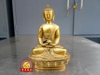 Pure Brass Good value Lucky 18 Tibet Mahayana Buddhist Temple BRASS Shakyamuni Sakyamuni Buddha Bowl Statue