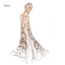 Elegant skirt dress wedding metal cutting die  practice hands-on DIY clip art album craft mold scrapbooking