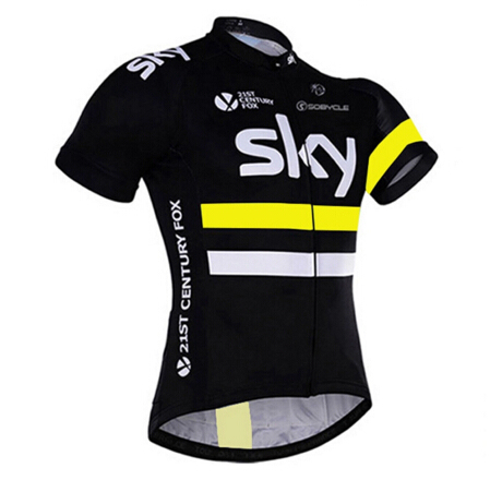 trajes ciclismo 2017 new team sky  white cycling jerseys summer maillot MTB Short sleeve Ropa Ciclismo quick dry bike clothing