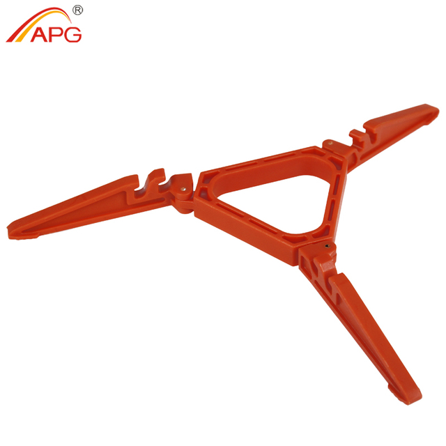 APG Outdoor Camping Gas Tank Bracket Stabilizer Bottle Shelf Stand Tripod Folding Canister Stand For Cooking Gas Stove