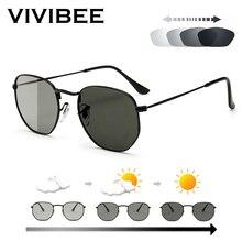 VIVIBEE Oval Women Fashion Photochromic Sunglasses Polarized Ladies Metal Gold Frame Sun Glasses 2019 Trending Female Shades