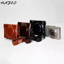 HAFEI Горячая Кожа PU Камера сумка-чехол для sony Cyber-shot DSC-HX60 DSC-HX50V DSC HX60 HX50V HX30 без логотипа чёрный; коричневый Кофе