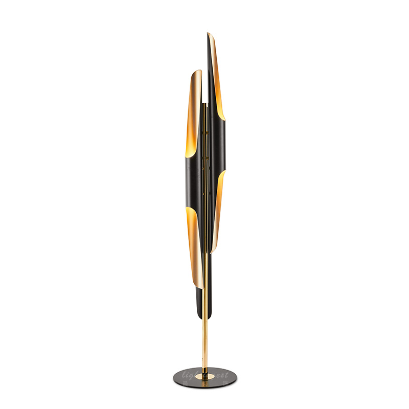 gold floor lamps