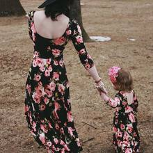 slim mother daughter dress mommy and me clothes family look matching outfits mom mama daughter dresses clothes family clothing(China)