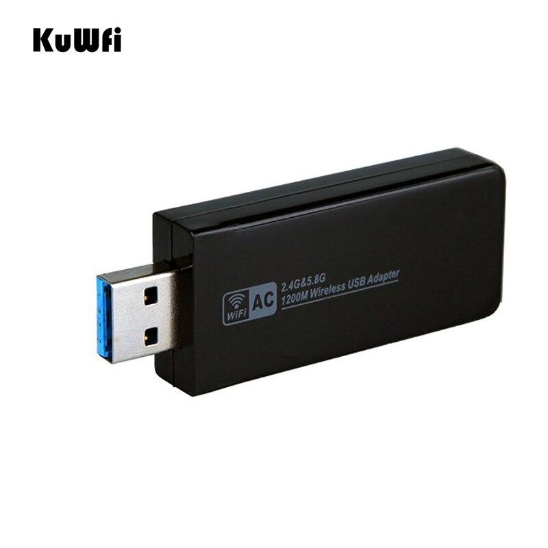 11AC 1200 Мбит/с USB3.0 беспроводной адаптер 2,4G/5,8G двухдиапазонный приемник USB Wi Fi 2T2R антенна Точка беспроводного доступа сетевая карта для рабочего стола-in Сетевые карты from Компьютер и офис