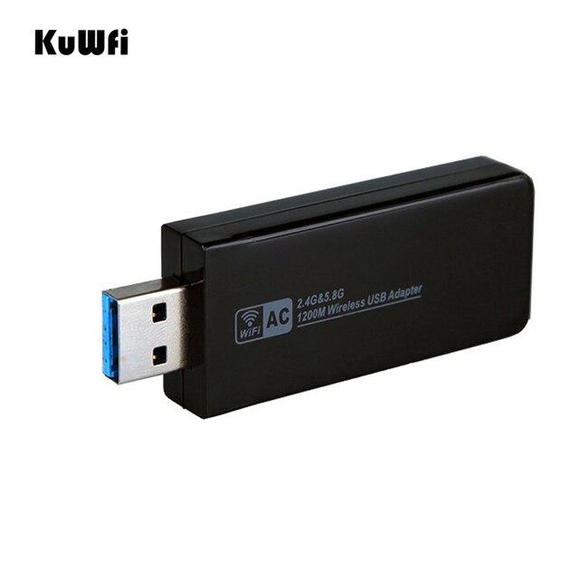 11AC 1200Mbps USB3.0 무선 어댑터 2.4G/5.8G 듀얼 밴드 USB Wifi 수신기 2T2R 안테나 AP 데스크탑 용 무선 네트워크 카드